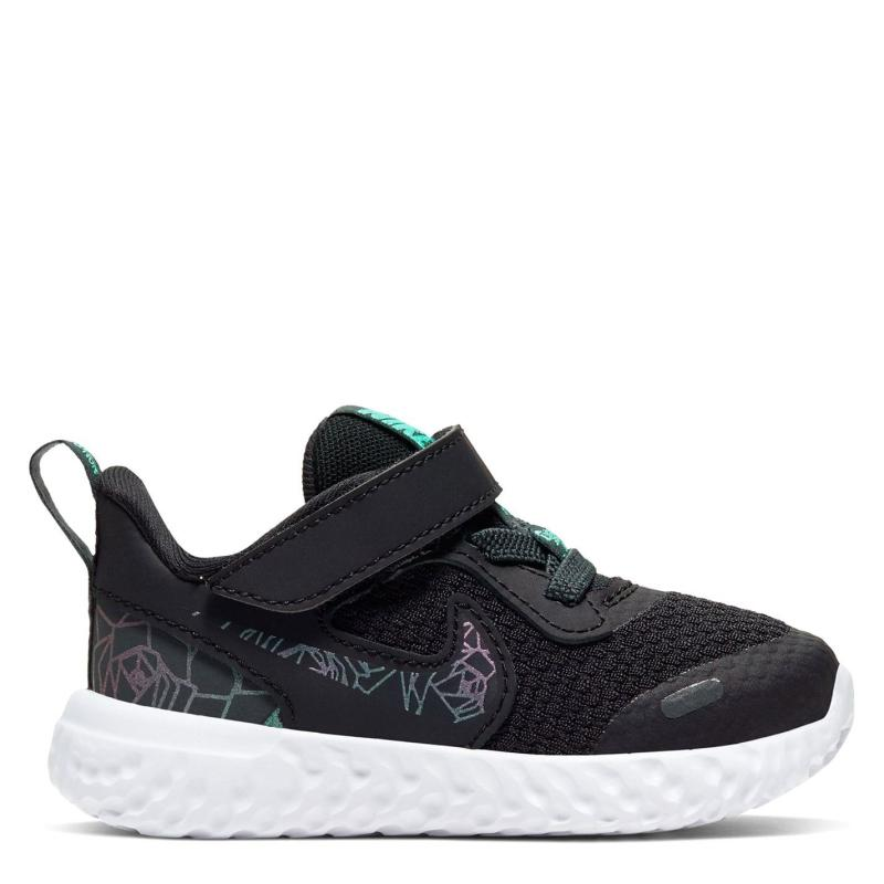 Nike Revolution 5 Trainers Infant Girls Black/Grey/Aqua