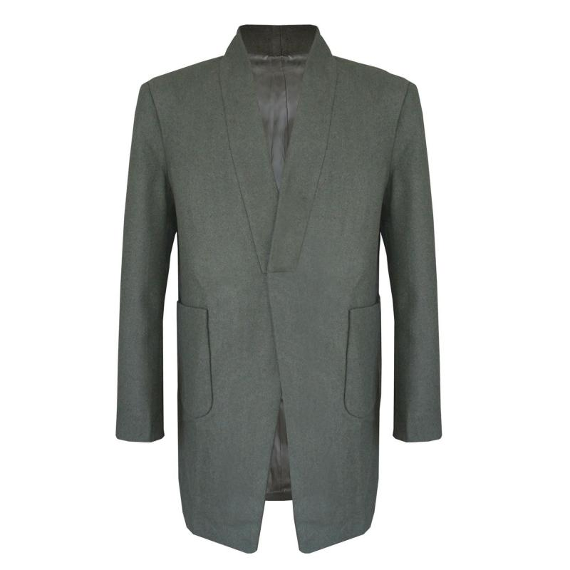 Giorgio Pocket Trench Coat Mens Army Green