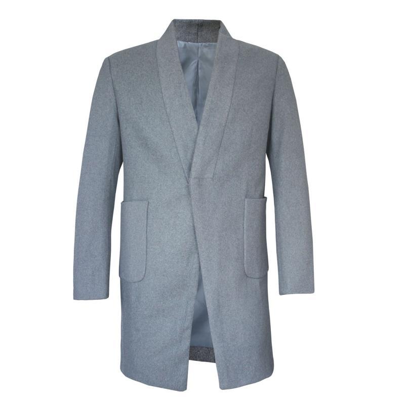 Giorgio Pocket Trench Coat Mens Grey