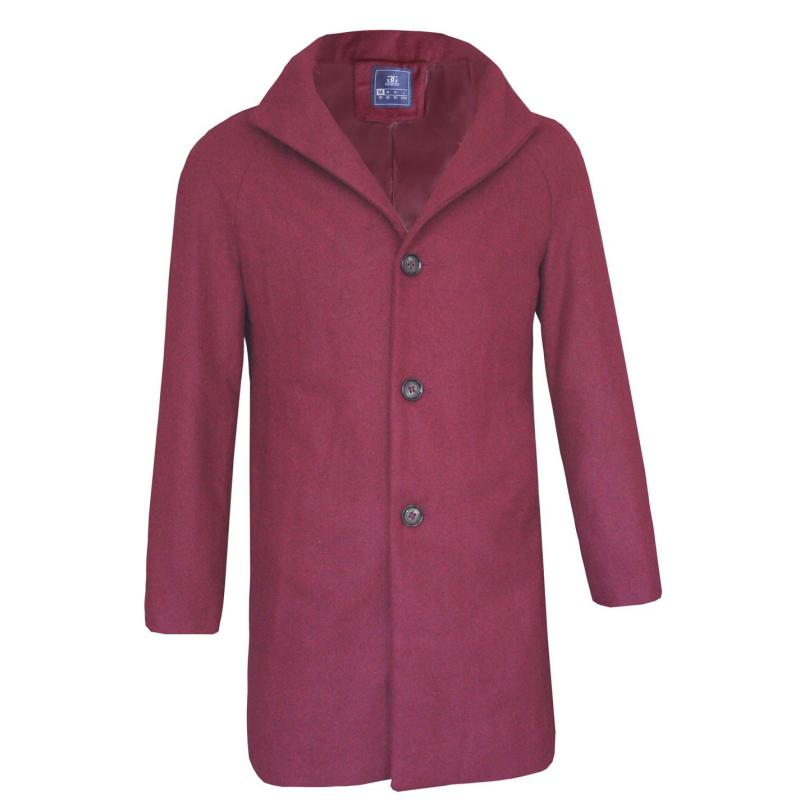 Giorgio Trench Coat Mens Burgundy