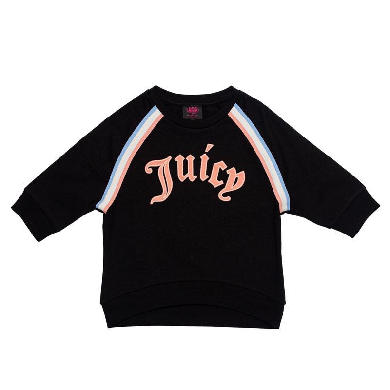 Juicy Couture Junior Girls Gothic Script Sweat Black