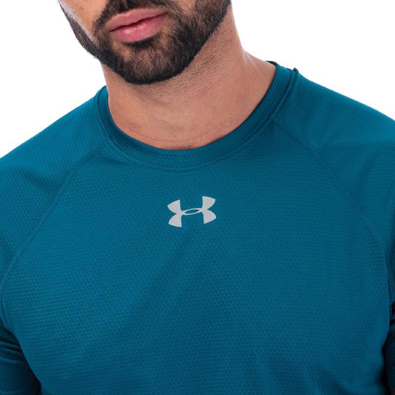 Tričko Under Armour Mens Qualifier HexDelta T-Shirt Green