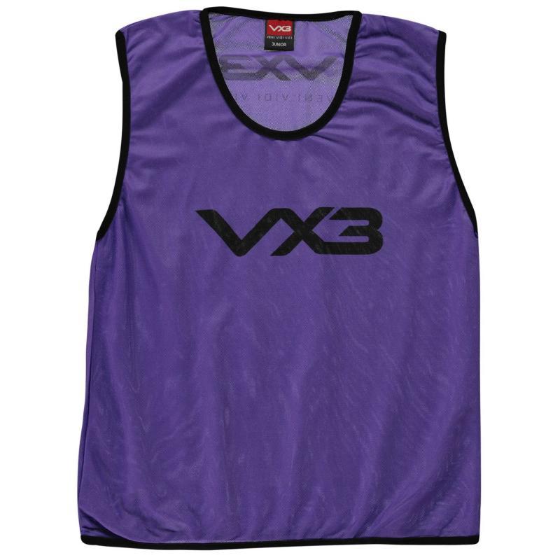 VX-3 Hi Viz Mesh Training Bibs Junior Purple