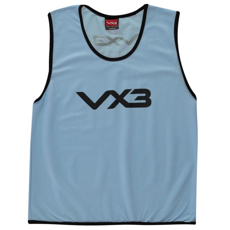 VX-3 Hi Viz Mesh Training Bibs Junior Cyan