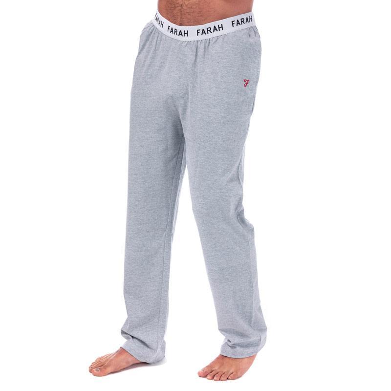 Pyžamo Farah Mens Greshem Lounge Pants Grey Marl