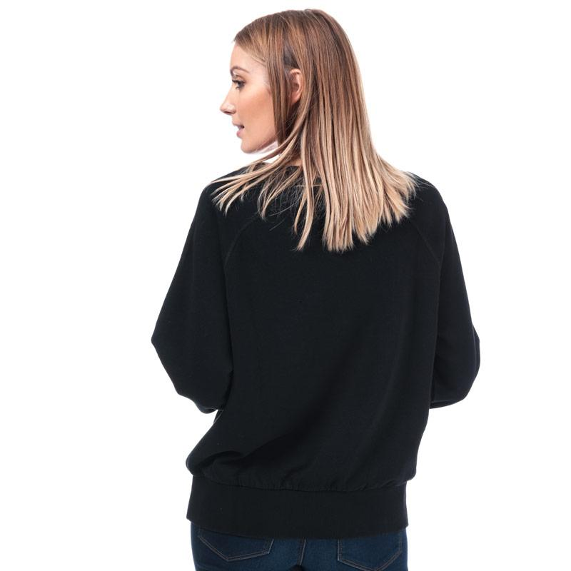 Mikina Diesel Womens Sven Flower Crew Sweatshirt Black