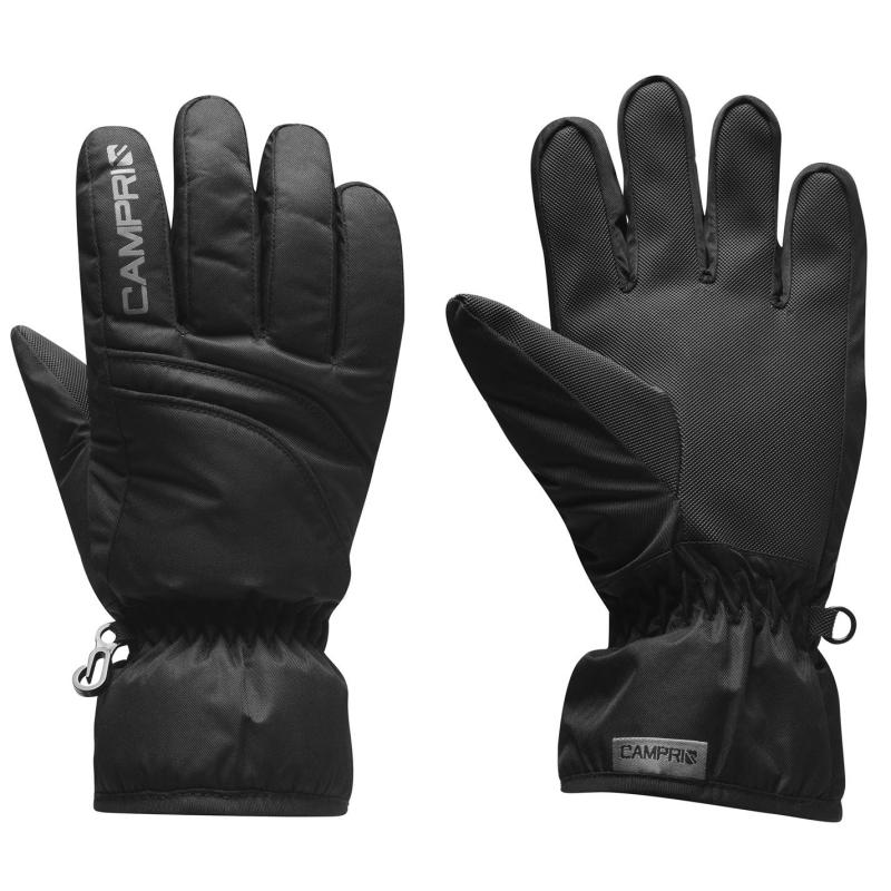 Campri Ski Gloves Junior Boys Black