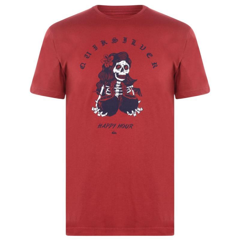 Tričko Quiksilver T Shirt Mens Garnet