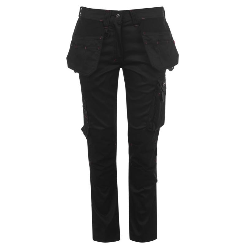 Kalhoty Dunlop Workwear Stretch Trousers Ladies Charcoal/Black