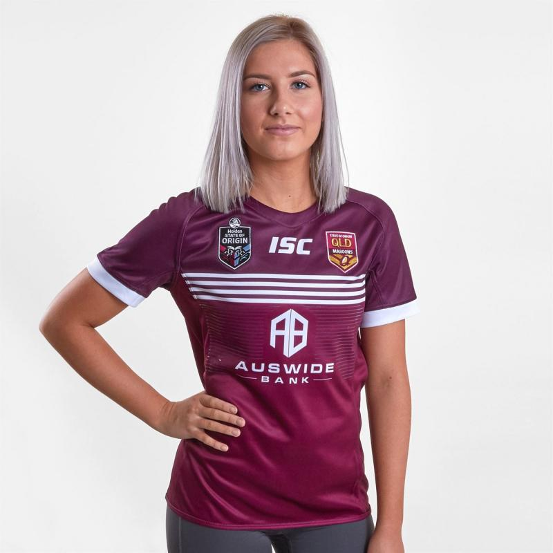 ISC Queensland Maroons 2019 Replica Shirt Womens Maroon/White