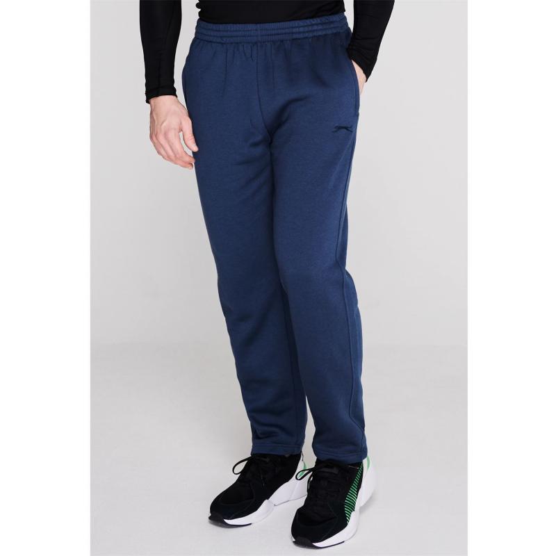 Tepláky Slazenger Open Hem Fleece Pants Mens Steel Blue