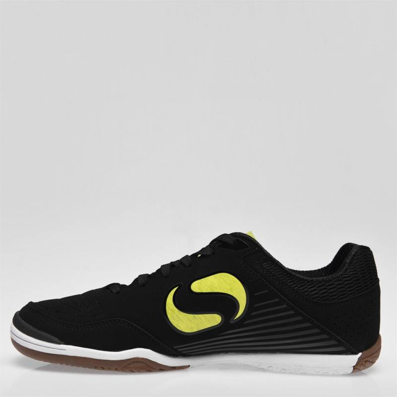 Sondico Pedibus Indoor Counrt Trainers Mens Black/Yellow
