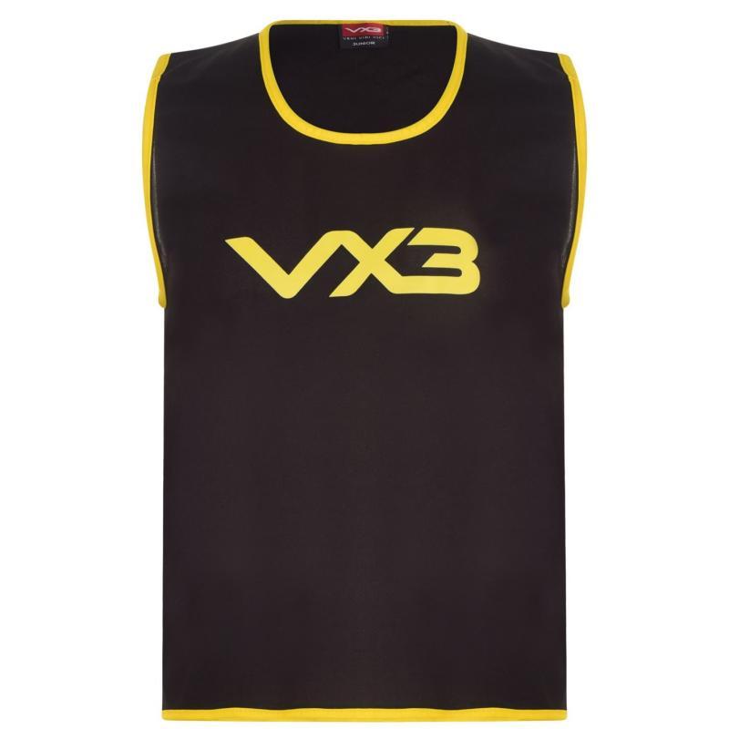 VX-3 Hi Viz Mesh Training Bibs Junior Black