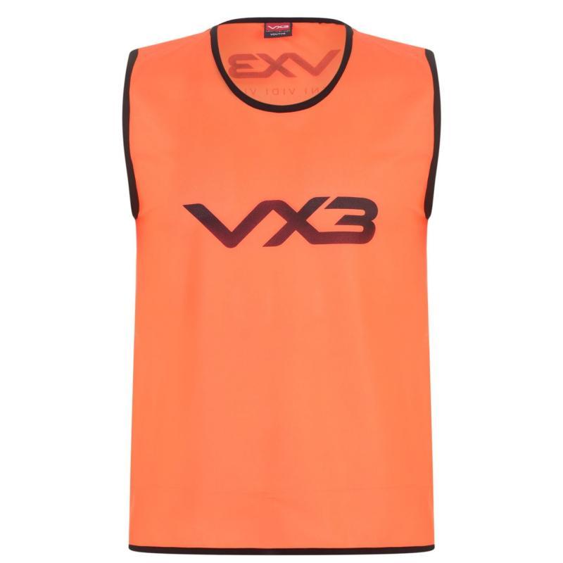 VX-3 Hi Viz Mesh Training Bibs Junior Flrscnt Orange
