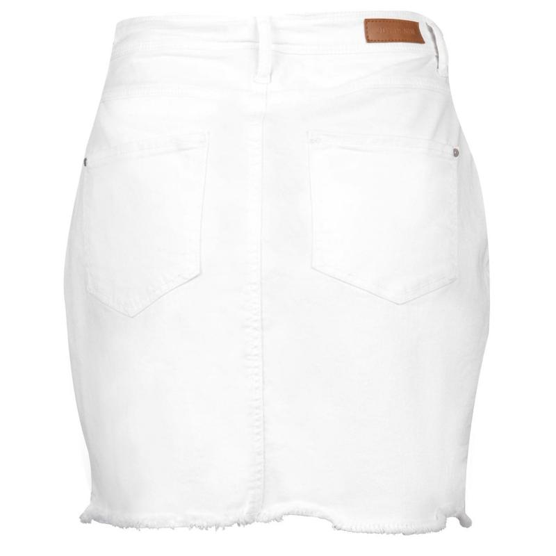 Sukně JDY Anica Denim Skirt White