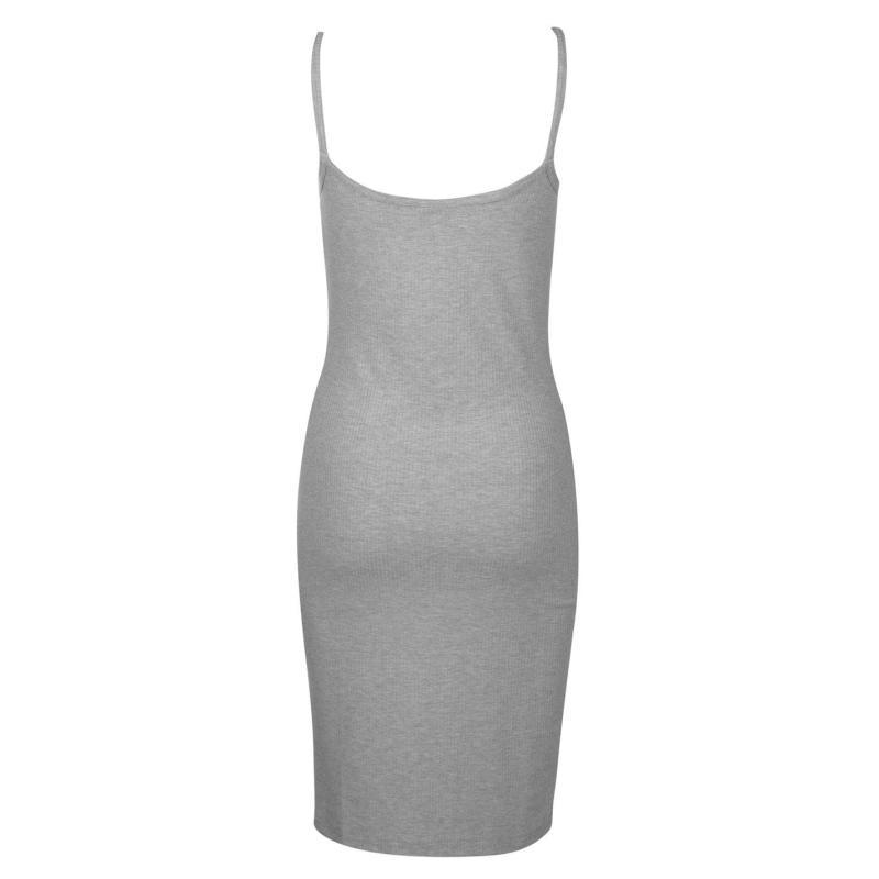 Šaty Noisy May Noisy Womens Mox Midi Dress Light Grey