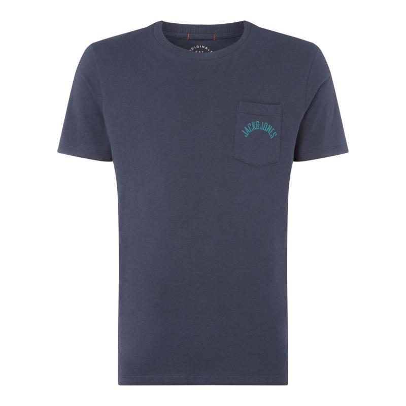 Tričko Jack and Jones Originals Pocket T Shirt Total Eclipse