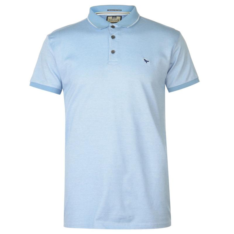 Weekend Offender Del Anna Polo Shirt Sky/White