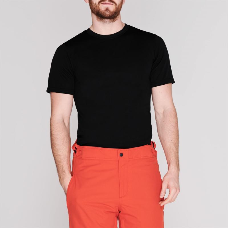 Campri Short Sleeve Thermal Top Mens Black