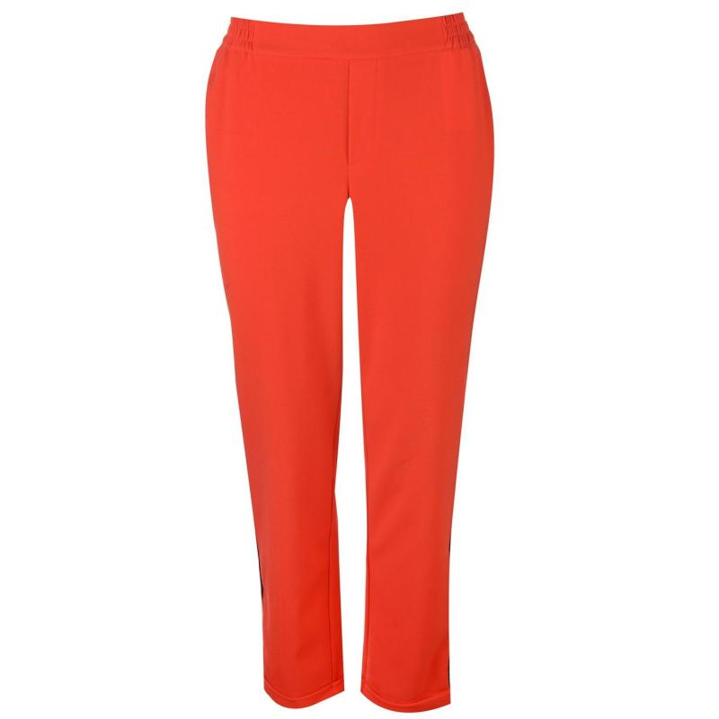 Kalhoty JDY Jacqueline Iza Ankle Pants Womens Fiery Red