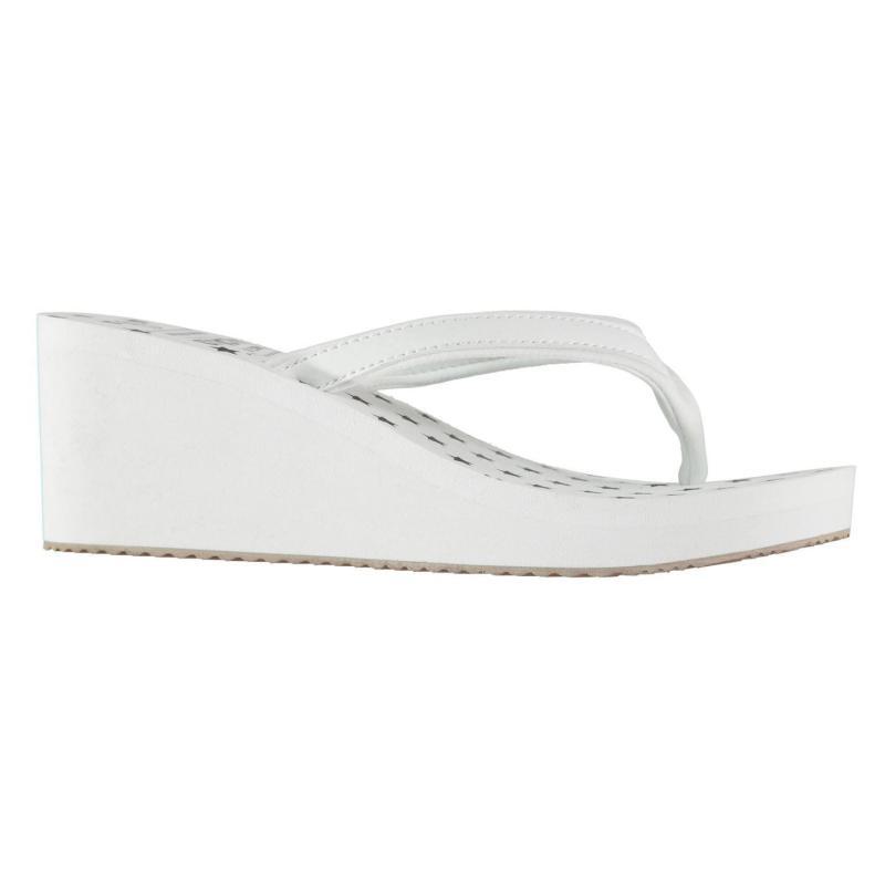 Boty SoulCal EVA Wedge Flip Flops Ladies White