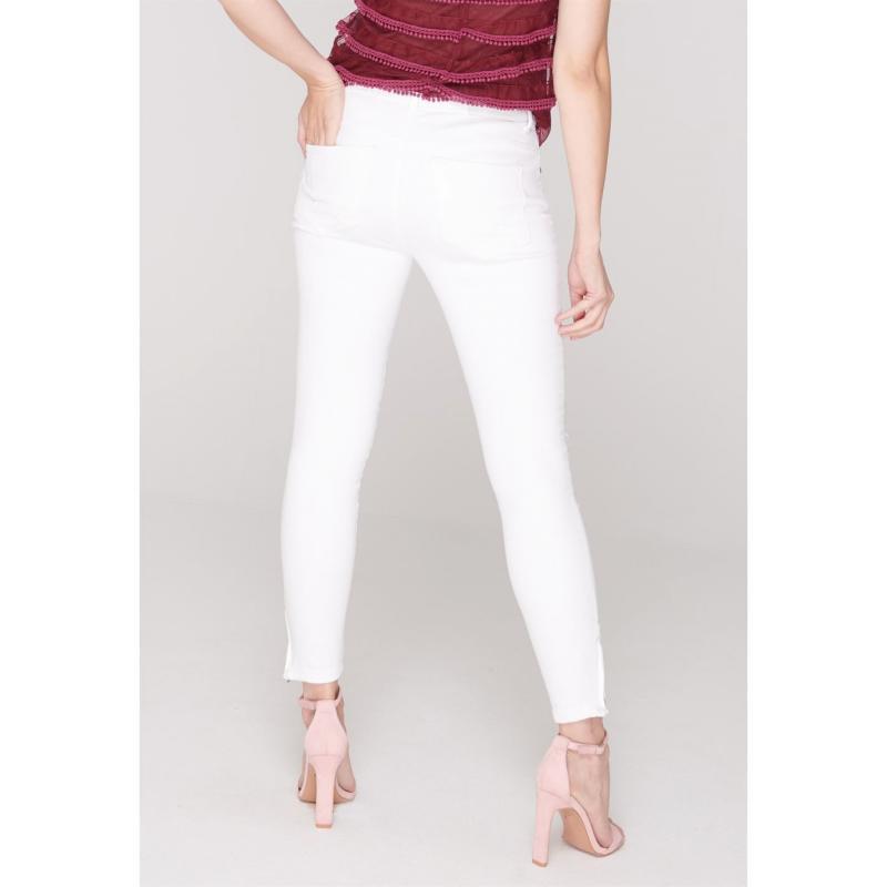 Noisy May Kimmy Stretch Skinny Jeans Bright White Velikost - W30/L32