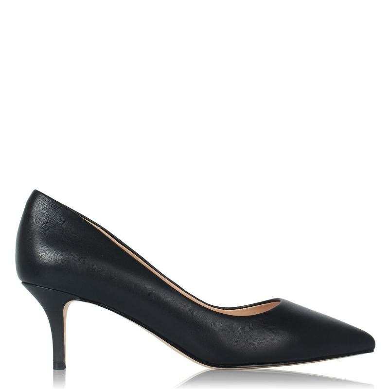 Obuv Linea Kitten Heel Shoes Black Leather
