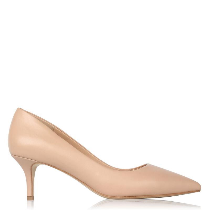 Obuv Linea Kitten Heel Shoes Nude Leather