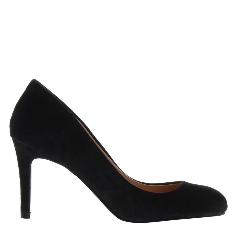 Obuv Linea Stiletto Almond Shoes Black Suede