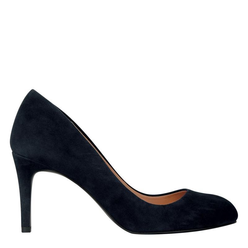Obuv Linea Stiletto Almond Shoes Navy Suede