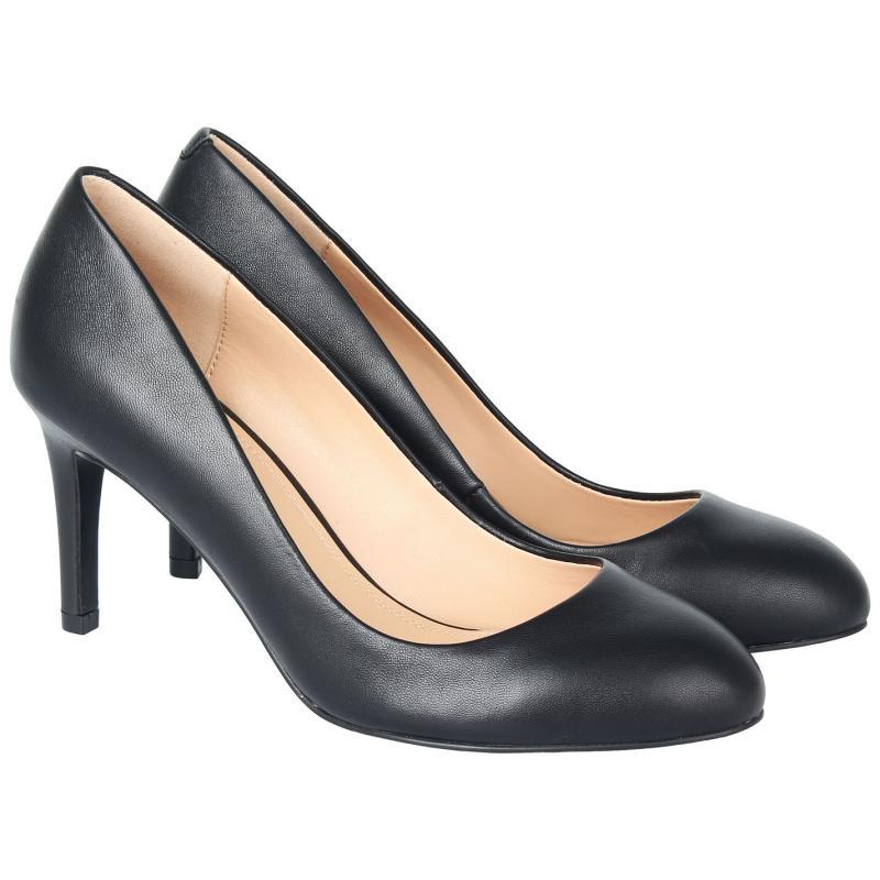 Obuv Linea Stiletto Almond Shoes Black Leather