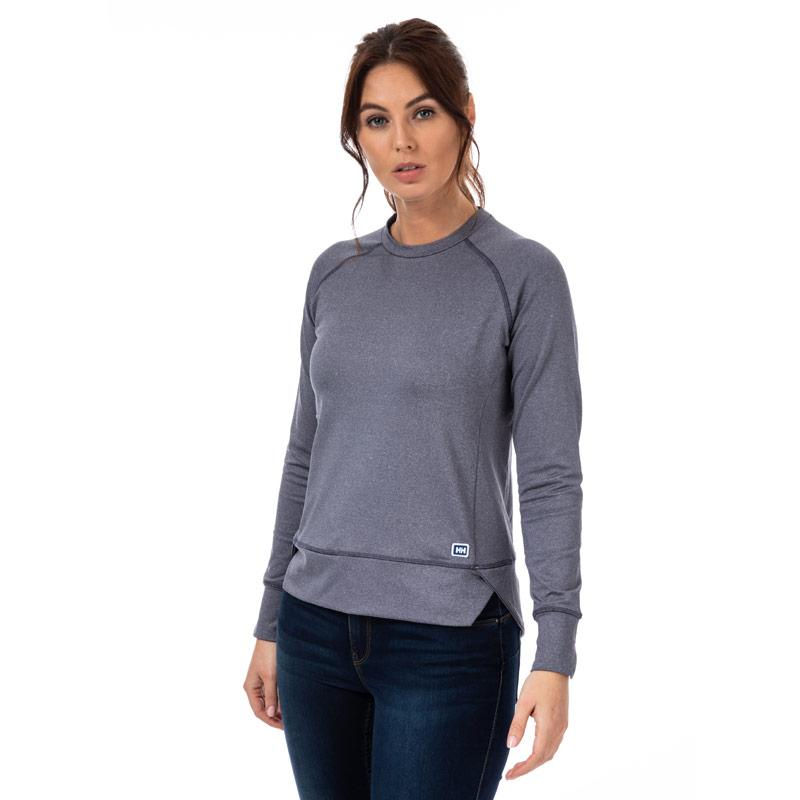 Mikina Helly Hansen Womens Hyggen Long Sleeve Top Charcoal