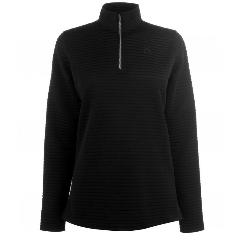 Nevica Banff Zip Fleece Top Ladies Black