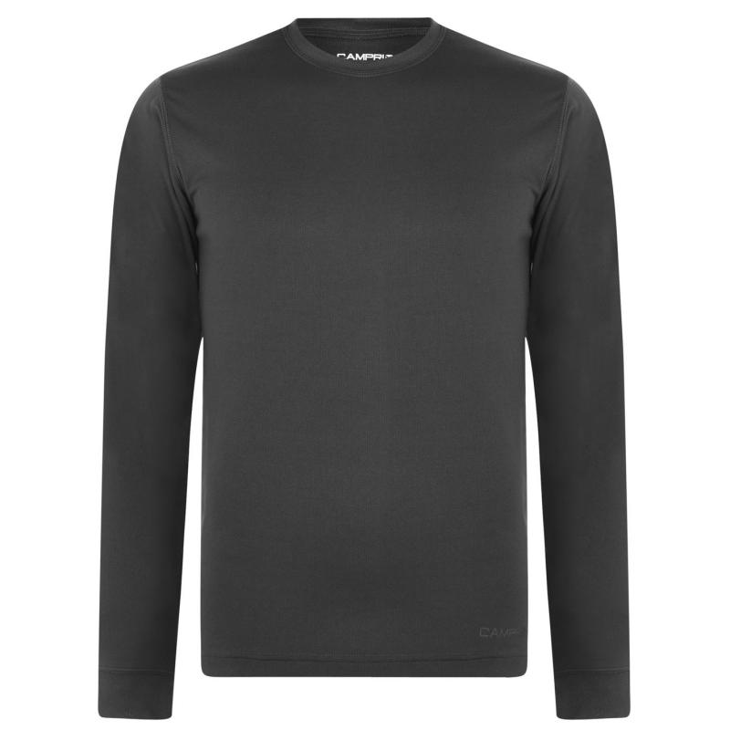 Campri Thermal Baselayer Top Mens Charcoal