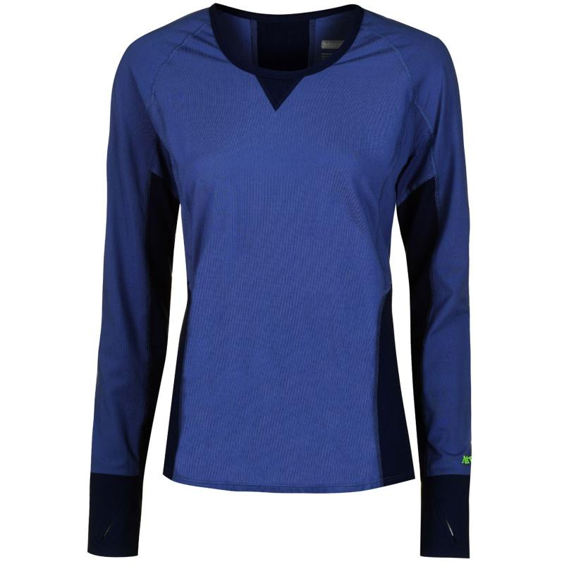 Marmot Lana Long Sleeve T Shirt Ladies Blue