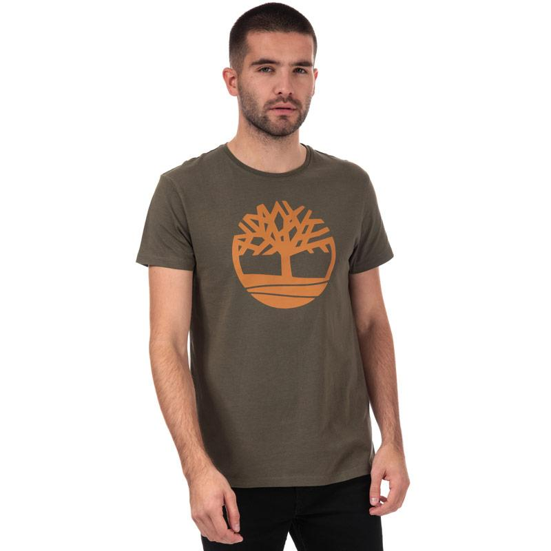 Tričko Timberland Mens Brand Tree Logo T-Shirt Khaki