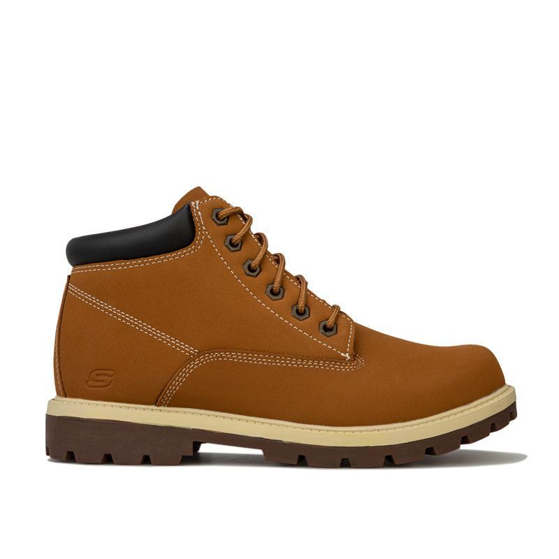 Boty Skechers Mens Toric Amado Boots Wheat