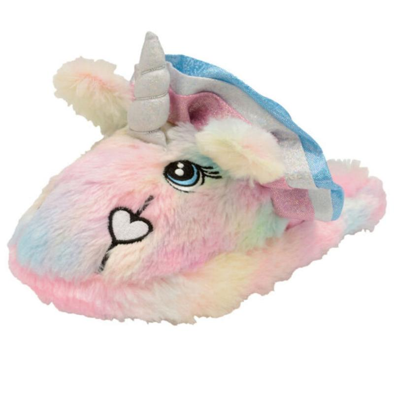 Dunlop Unicorn Slippers Ladies Pink Unicorn