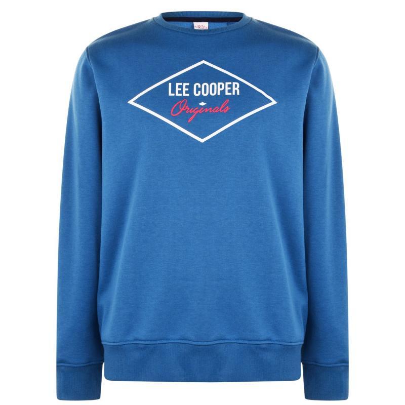 Mikina Lee Cooper Diamond Crew Sweatshirt Mens Vintage Blue
