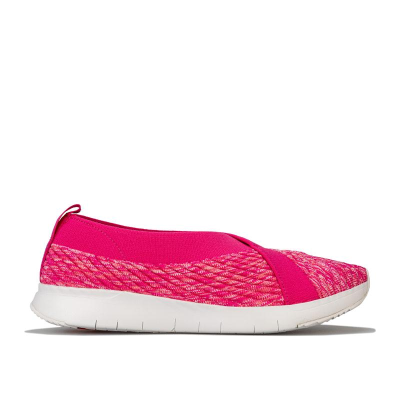Fit Flop Womens Artknit Ballerina Shoes Pink