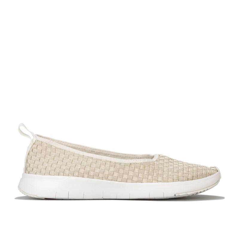 Obuv Fit Flop Womens Stripknit Ballerina Shoes White