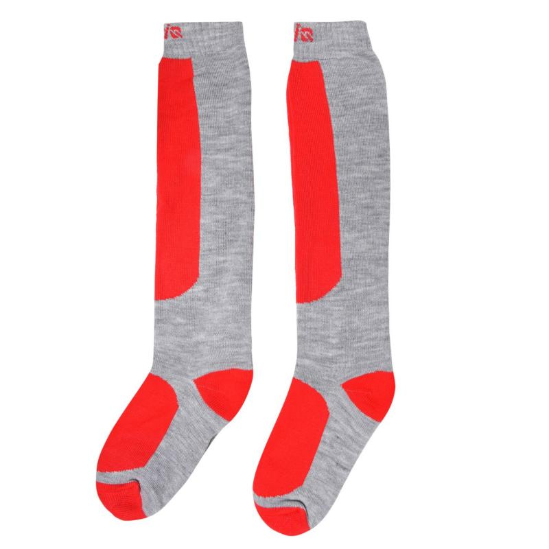 Campri Snow Socks 2 Pack Juniors Grey
