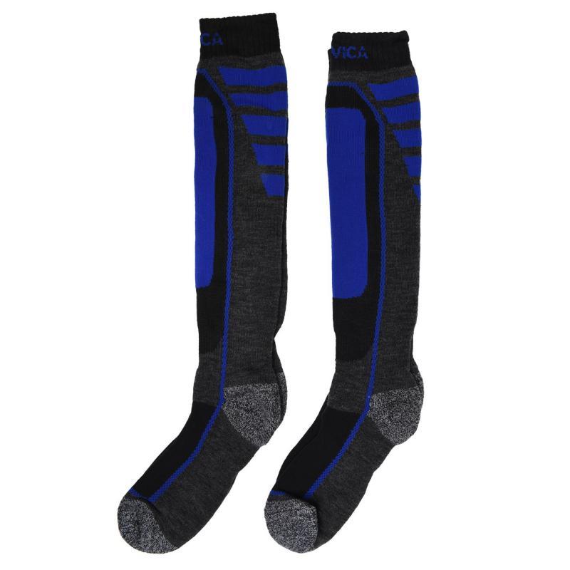 Nevica Meribel 2 Pack Ski Socks Juniors Royal/Grey