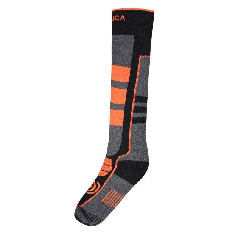 Nevica Vail 1 Pack Ski Socks Mens Black/Orange