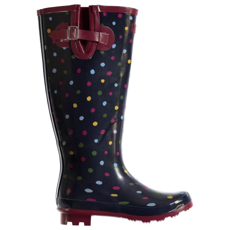 Boty Requisite Spot Welly Boots Ladies Multi