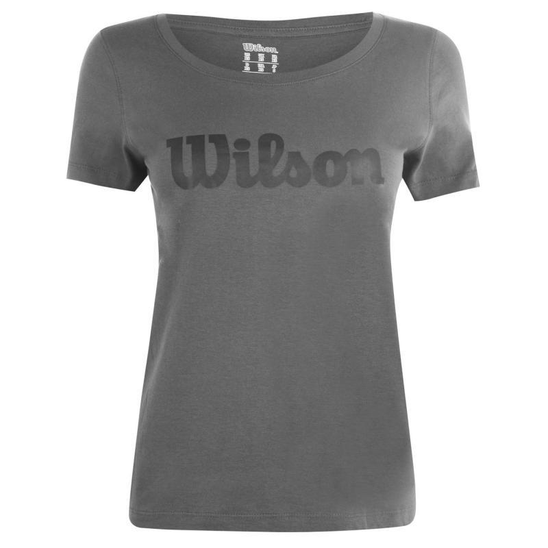 Wilson Script T Shirt Ladies Dark Grey