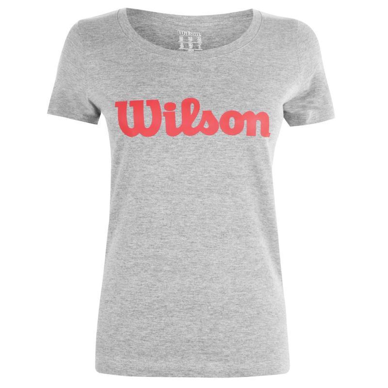 Wilson Script T Shirt Ladies Grey