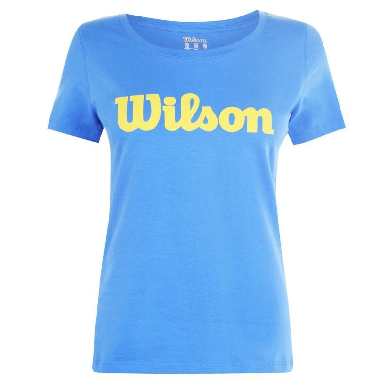 Wilson Script T Shirt Ladies Blue