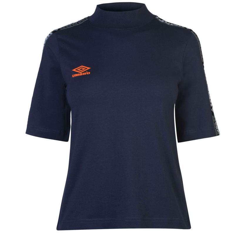 Umbro Short Sleeve Crop T Shirt Blu Night/Fire