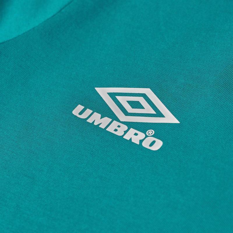 Umbro Short Sleeve Crop T Shirt Parasail/Blush